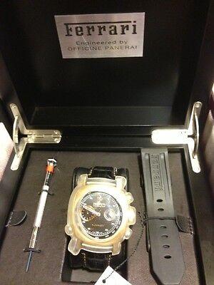 Panerai Ferrari Rose Gold Grand Turismo Chronograph Watch Model # FER00006