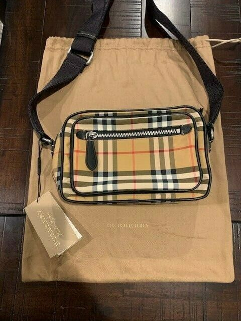 VERY RARE Burberry Paddy Crossbody Bag Vintage Check Canvas Small