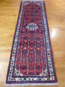 """PERSIAN RUG EXCEPTIONAL HAND KNOTTED RUNNER 7'1"""" BY 2'5"""""""