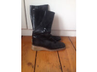 Size 8 - Ladies Clarks Black Leather Boots