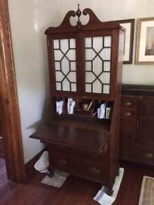 Chippendale Style Secretary Cabinet