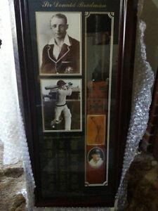 Don Bradman Cricket Bat Signed - Collectors Item - Original Signature