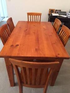 Wooden dining room table with 6 chairs Naremburn Willoughby Area Preview