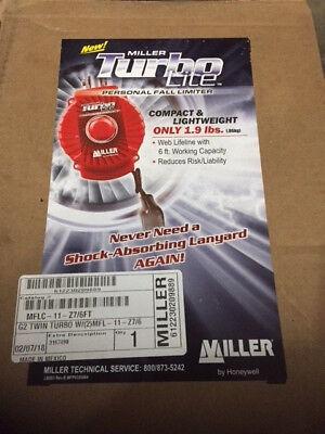 Twin Turbo Fall Limiter 6 Ft. Polyester Red Honeywell Miller Mflc-11-z76ft
