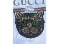 GUCCI LADIES MYSTIC CAT SEQUIN T SHIRT