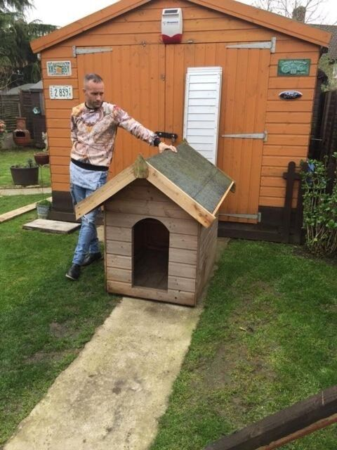 Two Solid Wood Large Dog Houses For Big Dog Door Size Only 75 For