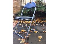 Folding office/dining chairs with padded back and seat - 6 chairs