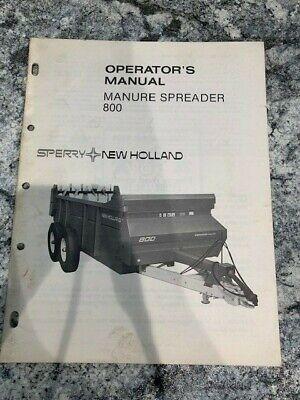 Sperry New Holland 800 Manure Spreader Operators Manual Catalog Book Sku-c
