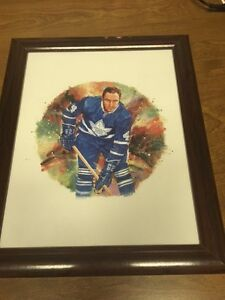 Red Kelly Canada Post Framed Lithograph