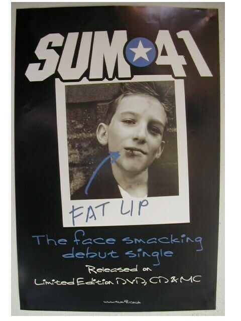 Sum 41 Poster Sum41 4 1 Different Fat Lip Shot Promo