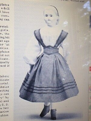 "ROHMER  HURET CHINA 16"" DOLL BRETELLE DRESS CAPE UNDIES SHOES PATTERN"