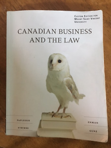 Legal Aspects of Business (BUSI 2259) Textbook