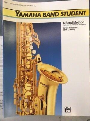 Yamaha Band Student Baritone Saxophone Method Book 2 for sale  Mineola