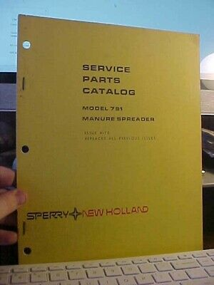 Nh Service Parts Catalog Manure Spreader 1k