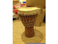 Djembe drum - slightly smaller than full size - gorgeous sound - £20