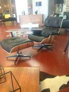 Eames Lounge chair+ Ottoman Genuine leather- 33% OFF