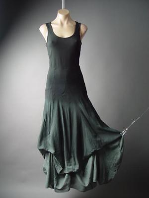 Steampunk Victorian Goth Wiccan Black Gray Ombre Bustle Skirt 150 mv Dress S M L - Long Black Witch Dress