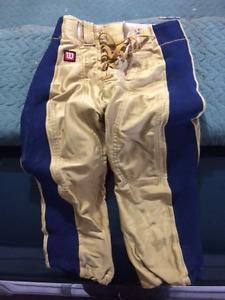 Game worn Winnipeg Blue Bomber pants