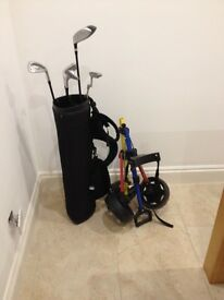 Junior Golf Clubs with Bag and Trolley