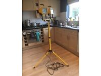 Screwfix High Quality Twin Halogen working halogen lights on tripod and adjustable stand. New.