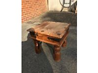 Small chunky wooden coffee table