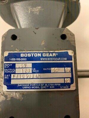 Boston Gear F710-50-b4-h Gear Speed Reducer 501 Ratio