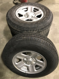 Jeep Wheels and Tires Almost New
