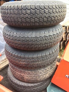 5  Five Trailer Tires for Sale with Rims