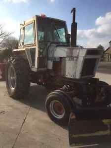 Case 870 Tractor, blower and front blade. London Ontario image 4