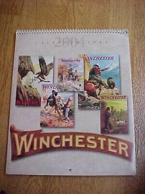 2004N WINCHESTER GUN CALENDAR WITH 12 VINTAGE POSTERS
