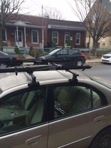 Barre de toit et support pour vélo (rack)