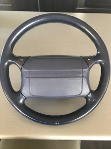 964 steering wheel blue