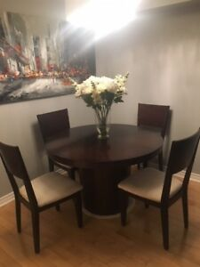 Brazilian Walnut Dining Table & Chairs