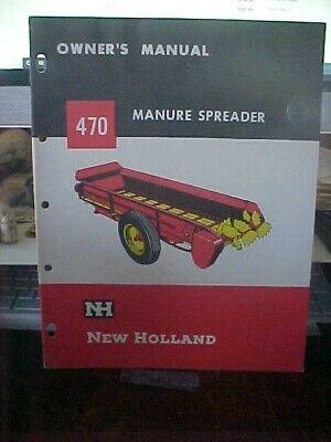 Om New Holland 470 Manure Spreader Owners Manual  1i
