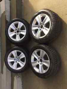 BMW 535 winter tires on rims 225/55r17