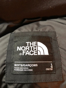 Almost New North Face Boys Winter Jacket-Black