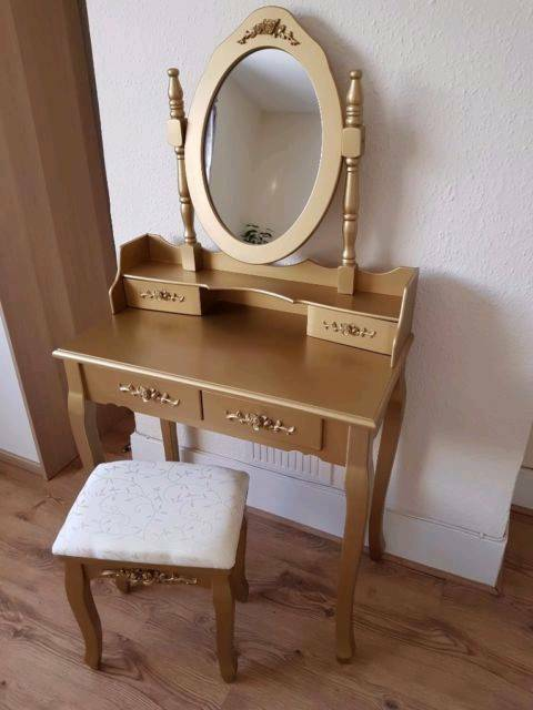 Dressing table,mirror,stool