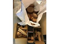 Wood Turning items: bowl blanks, chisels and chucks