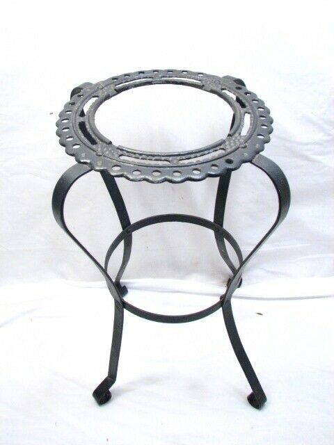 Vintage Mid-Century Modern Art Deco Wire Umbrella Plant Stand Smoking Ashtray