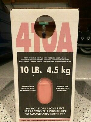 R410A  10 lb. new factory sealed. 100% virgin FREE SAME DAY SHIPPING BY 3 PM