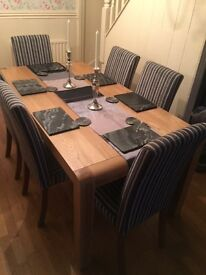 John Lewis solid oak dining table