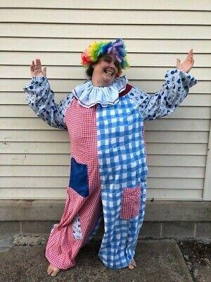 Womens Halloween Costumes With Wigs (Womens Plus 2X 3X Handmade Halloween Clown Costume with)