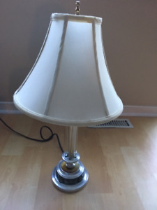 """24"""" high table lamp - used but works - $15"""