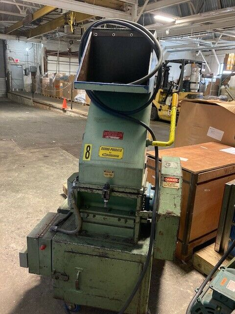 Lot of 2 IMS Open Grinder Granulator SC-144 7.5 HP Baldor Motor A-144-3-SB