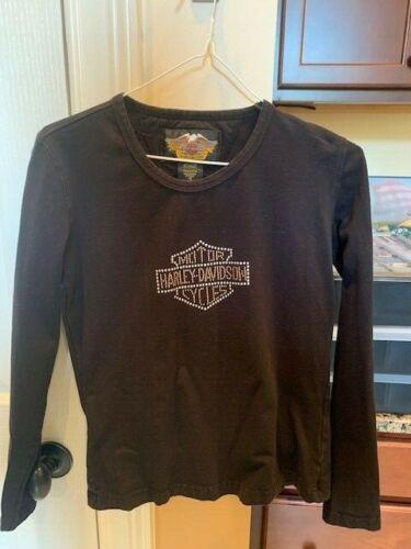 Harley Davidson womens black long sleeve top shirt  xs  xsmall