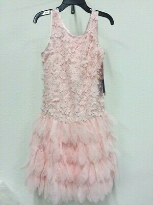 New Girl's Biscotti Pink Dress Pageant Wedding  Biscotti Pink Dress
