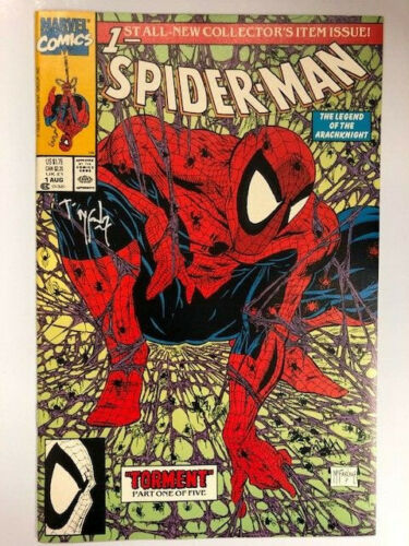 Spider-Man #1 1990 Todd McFarlane Signed and Stamped Green Edition -FIRST PRINT