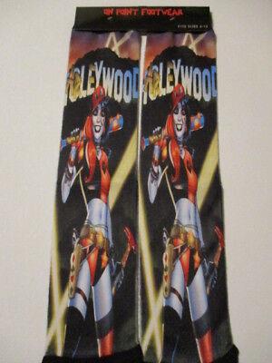 HARLEY QUINN 3 socks BUY any 3 GET 4TH PAIR FREE pop culture ODD SOX DC COMICS