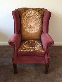 Retro Vintage Velvet Armchair
