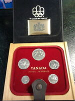 Canadian Coin Set including 1978 Silver dollar in a wooden case